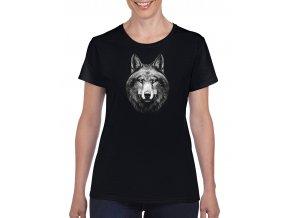 cerne damske tricko hezky vlk