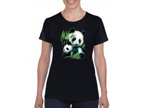 cerne damske tricko panda