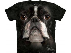 tričko s 3d potiskem bostonského teriera