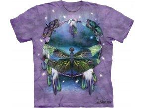 tričko-indiánské-amulet-vážka-potisk-batikované