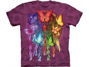 tričko indiánské motýl lapač snů potisk batikované