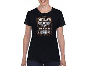 cerne damske tricko outlaw biker