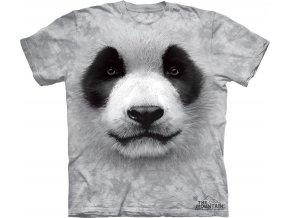 tričko, panda, 3d, batikované,  potisk, mountain