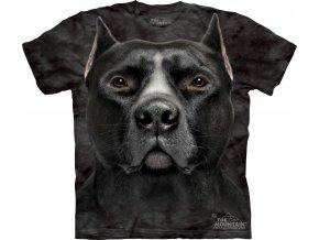 tričko-pes-pitbul-3d potisk-batikované-bavlněné