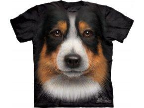 tričko se psem australský ovčák
