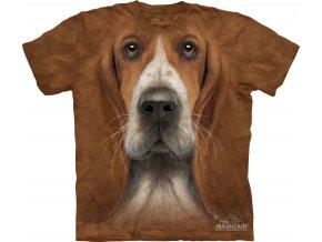 tričko-baset-pes-3d-potisk-batikované