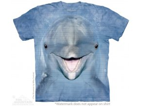 Tričko, delfín, 3d, potisk, batikované, mountain