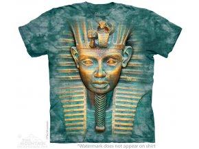 tričko, tutanchamon, 3d, batikované, potisk, mountain