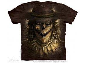 tričko, horor, strašák, batikované, potisk, mountain