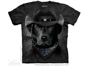 vtipne tricko pes kovboj labrador