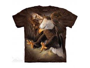tričko-spáry-orel-batikované-potisk-mountain
