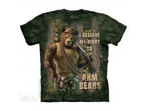 tričko medvěd military střelec pánské potisk