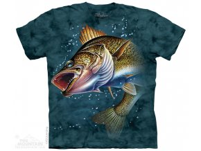 Tričko ryba candát pánské potisk batikované