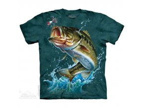 tričko, ryba, okoun, batikované,  potisk, mountain
