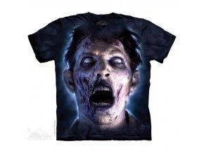 tričko, zombie, horor, batikované, potisk, svit měsíce