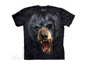 tričko medvěd 3d pánské batikované potisk