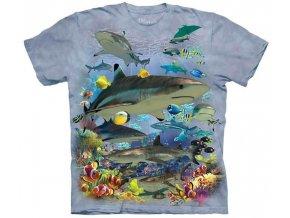 tričko-moře-žralok-potisk-batikované-atol