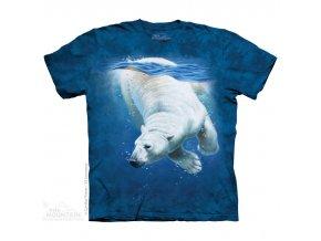 tričko, lední medvěd, moře, potisk, batikované, mountain