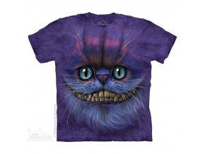tričko, kočka Šklíba, 3d, potisk, batikované, mountain