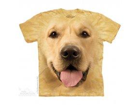tričko, pes, zlatý retrívr, batikované, potisk, 3d