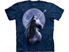 tričko, magický jednorožec, potisk, batikované, mountain