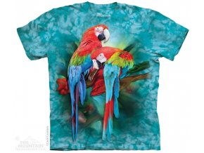 tričko-papoušek-ara-batikované- potisk-mountain