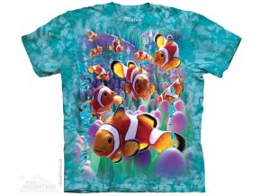 tričko, rybička, klaun uzdičkatý, potisk, batikované, mountain