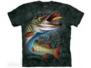 tričko-ryba-štika-batikované-potisk-rybářské