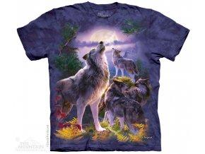tričko-vlci-smečka-batikované-potisk-mountain