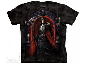 tričko-metalové-smrt-potisk-batikované-kostlivec