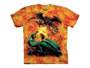 dětské tričko-bavlněné-batikované-potisk-draci-souboj