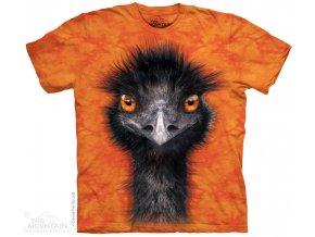 tričko, pštros, emu, batikované, potisk, mountain