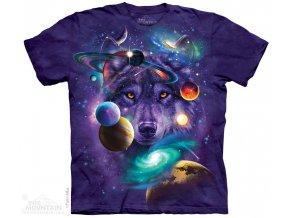 batikovane tricko vlk zodiac