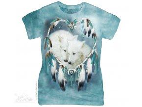 dámské tričko-batikované-bavlněné-potisk-indiánské-vlci