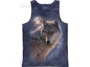 tílko s potiskem vlka