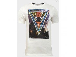 pánské, levné, bílé, tričko s potiskem