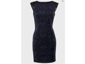 dámské modročerné, šaty, design, levné