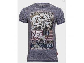 pánské, levné, šedé, tričko s potiskem