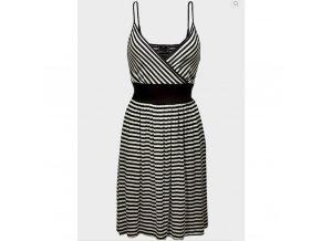 dámské, levné, pruhované, černobílé, šaty