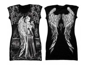 tunika, bavlna, gotika, potisk, anděl, sudička