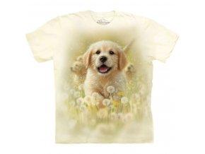 dětské tričko-pejsek-mazlíček-batikované-potisk-mountain