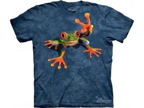 tričko, žába, vtipné, potisk, hipies, dětské