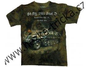 tričko, military, potisk, německý obrněný transportér, pásové vozidlo, Hakl
