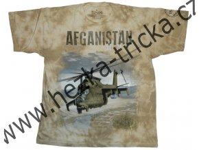 tričko, military, potisk, sovětský vrtulník MI24, Afganistan, Legend