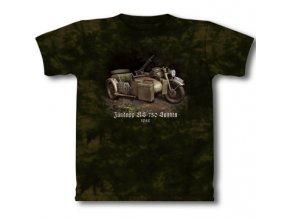 tričko, military, potisk, německé motorky, Legend Zundapp 750