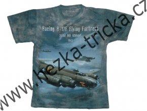 tričko, military, potisk, americký bombardér B17, létající pevnost, Legend