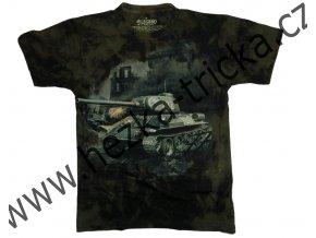 tričko, military, potisk, tank T34, seriál Čtyři z tanku a pes, 112 rudý