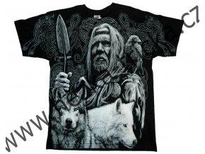 tričko, potisk, viking, vlci, Odin, Valhalla