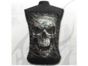 metalová košile spiral s lebkou