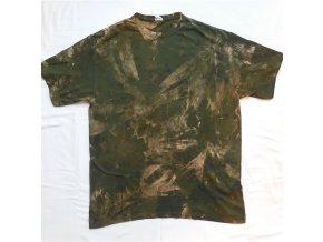 Ručně batikované bavlněné tričko Amazonie vel. XXL
